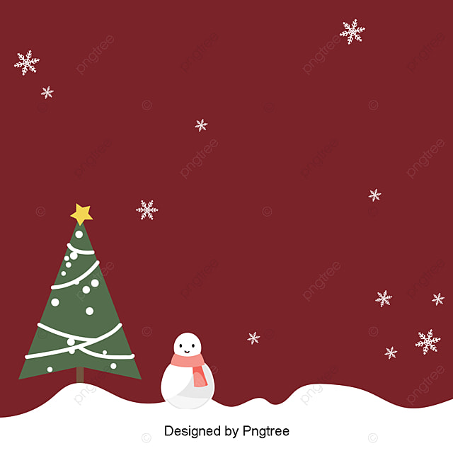 The Brief Background Of Dark Red Retro Christmas Christmas Tree