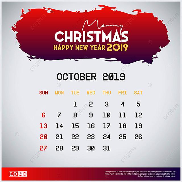 Calendario Saldi 2020.2019 Ottobre Calendario Buon Natale E Felice Nuovo Ye 2018