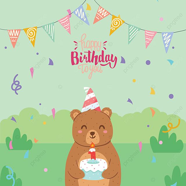Открытка с днем рождения медведи, коноплей анимация