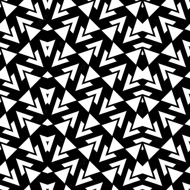 Gambar Corak Abstrak Hitam Putih