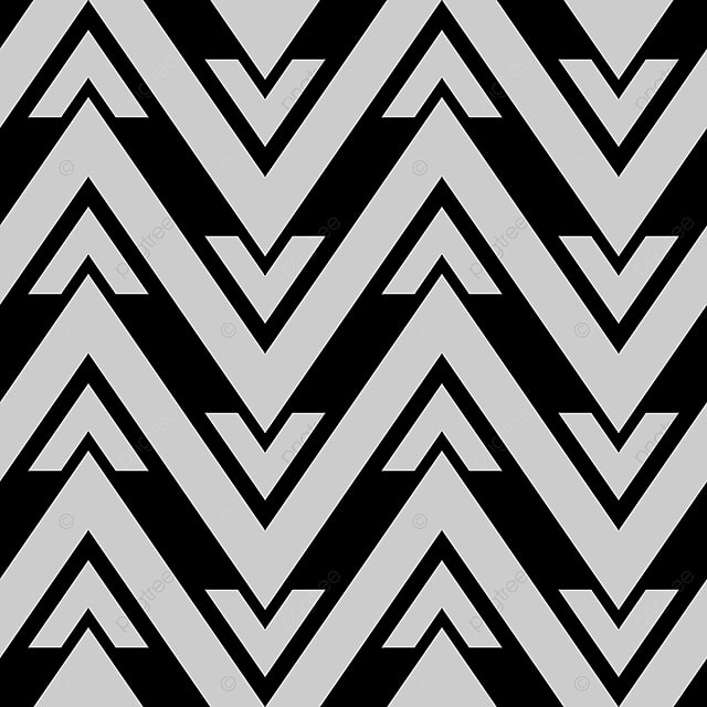 chevron geometric pattern in black and white colors
