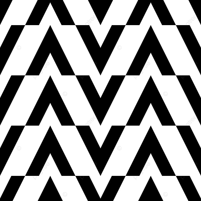 Chevron Geometric Pattern In Black And White Colors ...