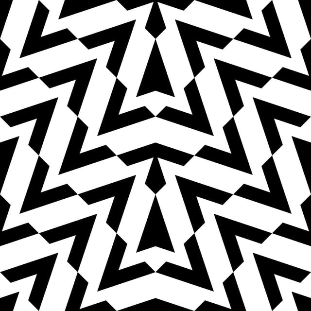 Chevron Geometric Pattern In Black And White Colors Abstract