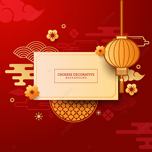 Elegant Chinese Decorative Background For New Year ...
