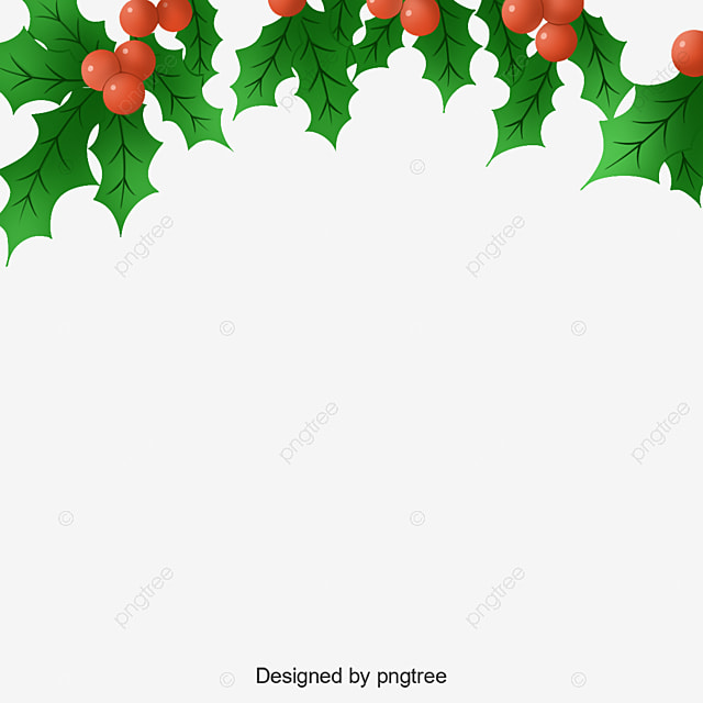 hand painted cute holly border for christmas christmas hand