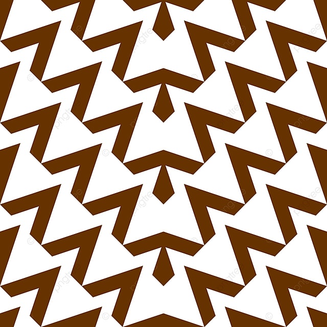Triangle Geometric Abstract Pattern Zigzag Seamless Brown And White