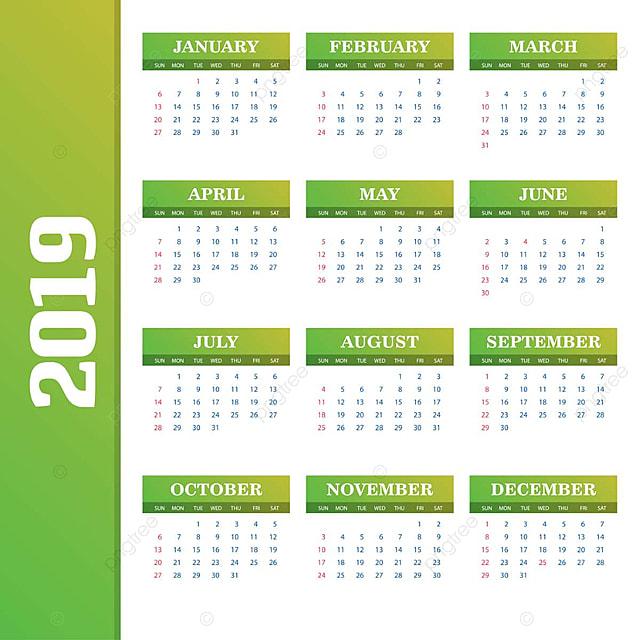 Calendario 2019 2020.2019 Calendar Template Vector Background 2019 2020 Annual Png And