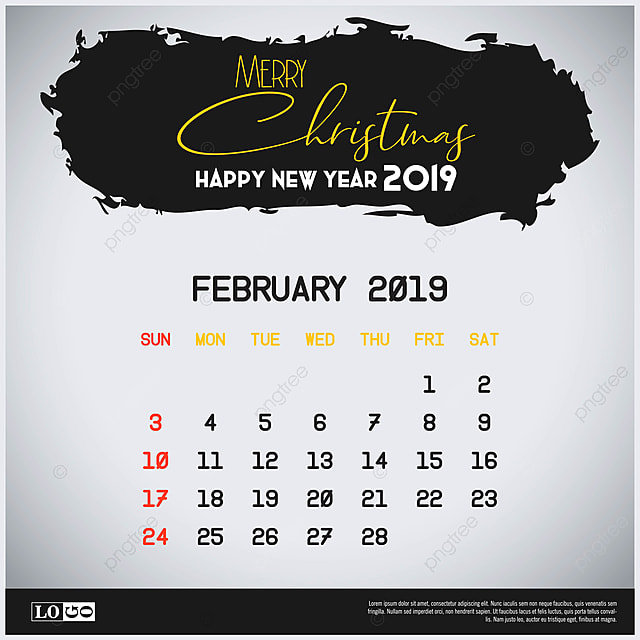 Feb Calendar Header