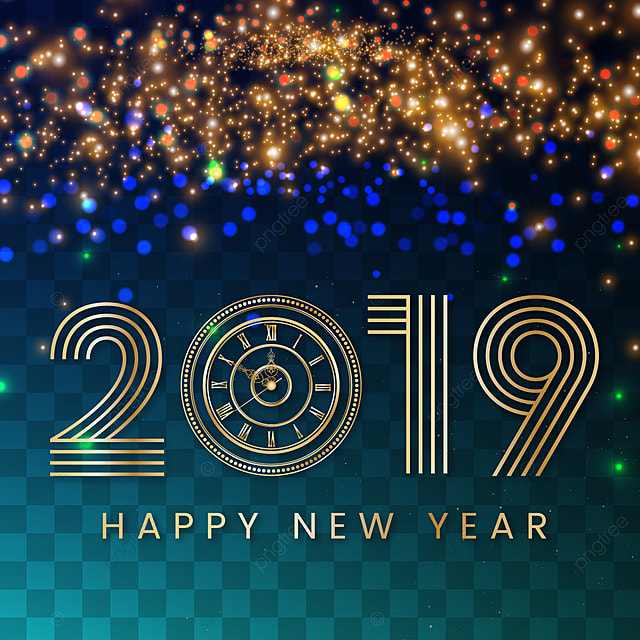 happy new year background with glitter effect transparent background new year background png