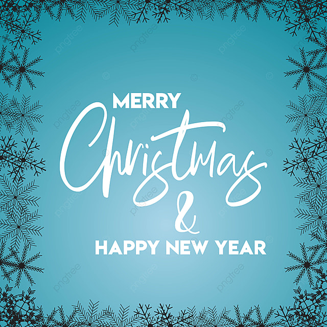 merry christmas and happy new year snowflake border template background ball banner png