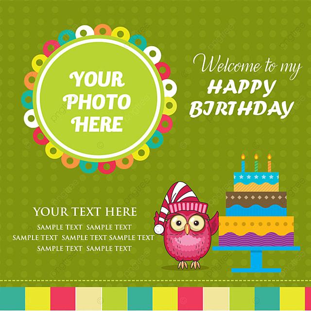 Birthday Cute Green Invitation Card Design Green Invitation Baby
