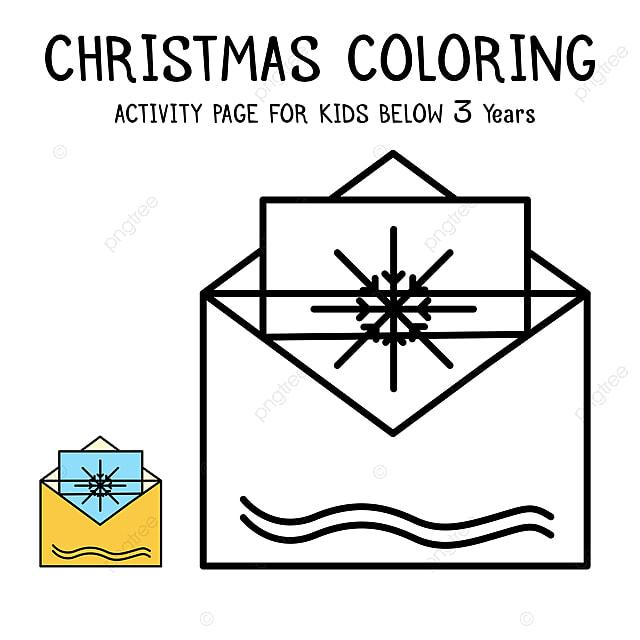 Navidad Para Colorear Libro Para Niños Menores De 3 Años De ...