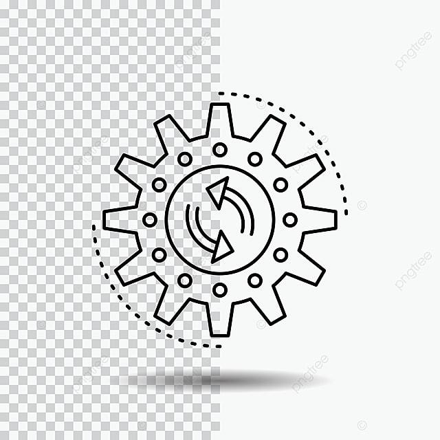 Gestión Proceso Producción Tarea Trabajo Linea Icon Sobre Transpa