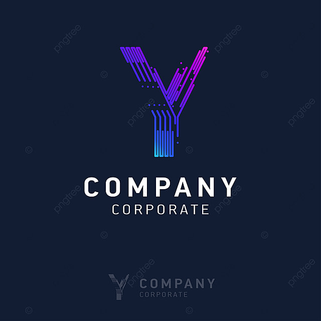Entreprise Y Logo Avec Carte De Visite Vecteur Gratuit PNG Et