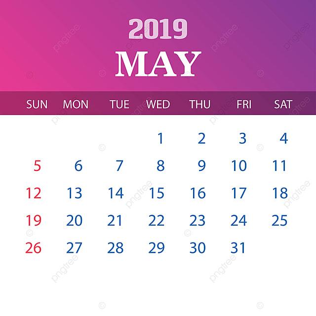 Calendario Mayo2019.Plantilla Calendario Mayo 2019 2019 2020 Anual Png Y Vector Para
