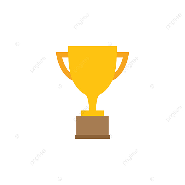 trophy cup graphic design template vector illustration