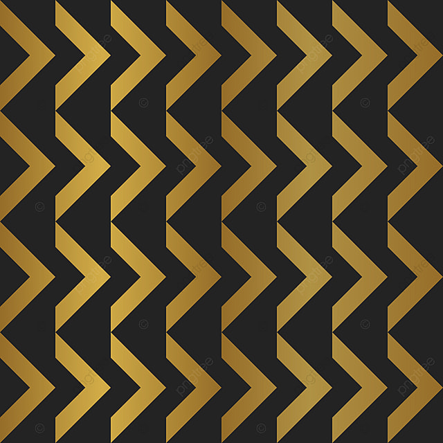 Abstract Pattern Decorative Golden Triangle Chevron Style