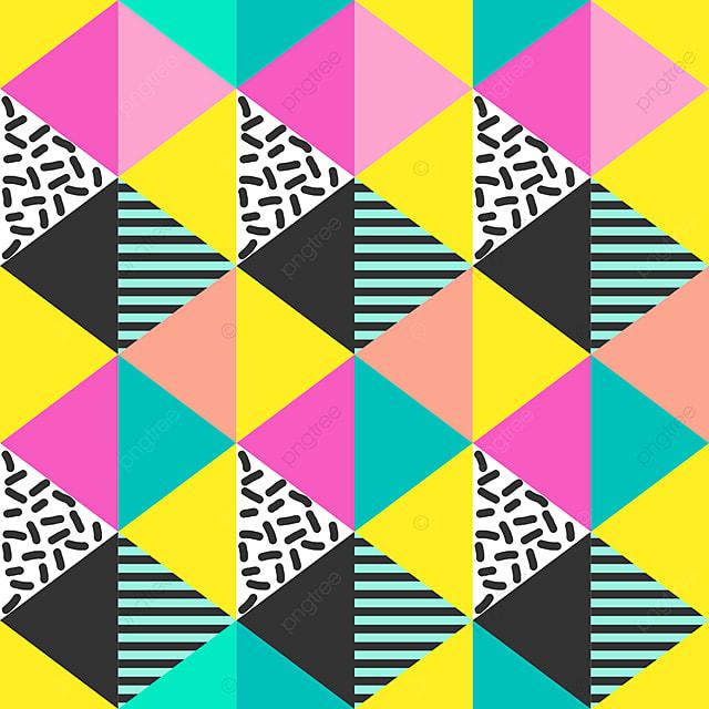 Patrón Sin Fisuras Con Triángulo Colorida Ilustración Vectorial