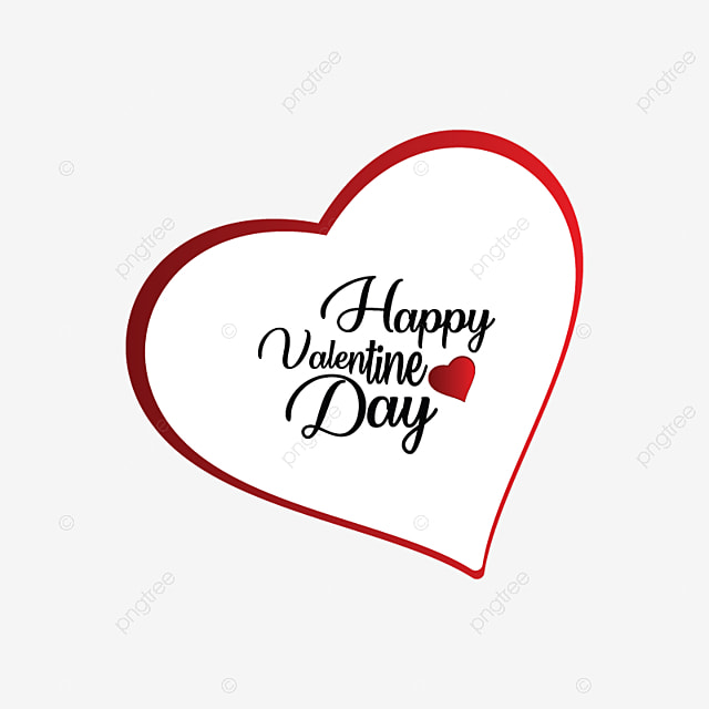 Happy Valentine Day Typography Happy Icons Day Icons Happy Valentine Day Png And Vector With Transparent Background For Free Download