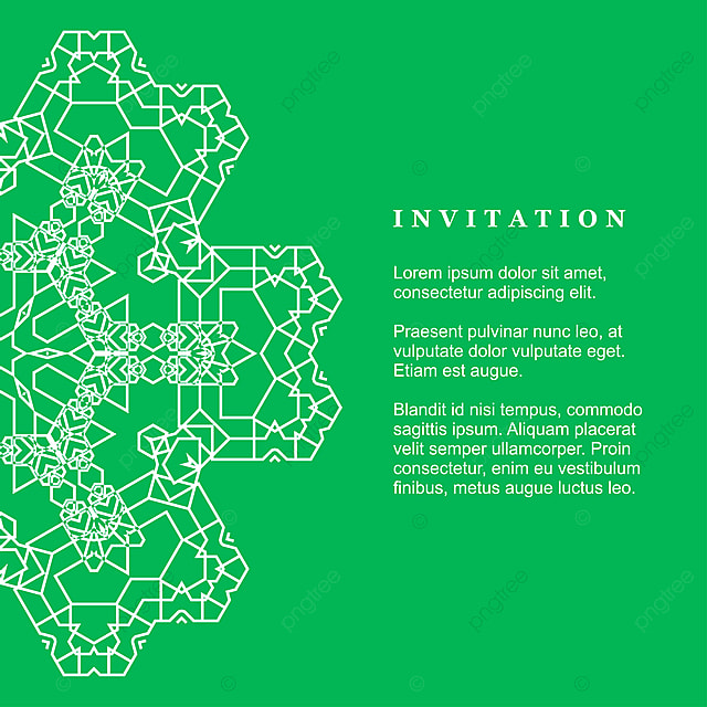 Mandala Invitation Card With Creative Design Vector