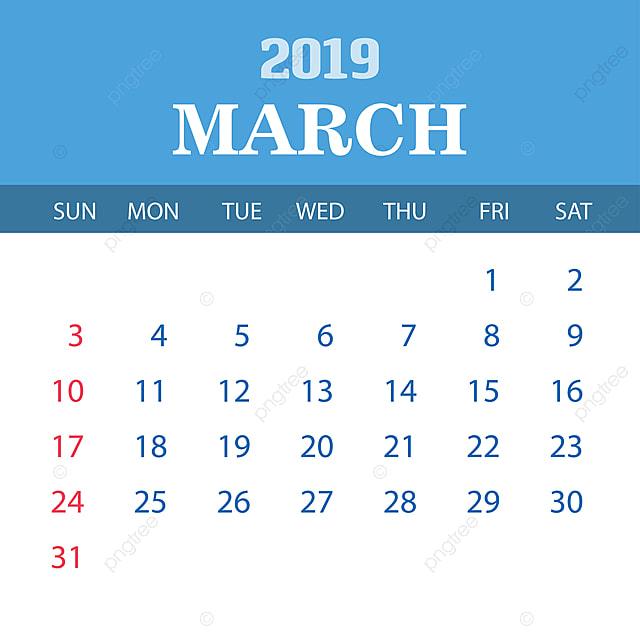 Calendrier De Mars 2019.Gabarit Mars 2019 Calendrier 2019 2020 Annual Png Et