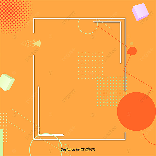 Square Orange A Rectangular Frame Pattern Orange Png And Psd File