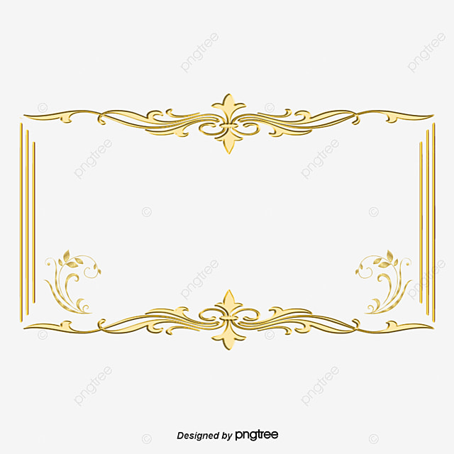 The Frame Pattern Move The Golden Flower Square Is Long, Photo Frame, The Flowers, Is PNG and PSD
