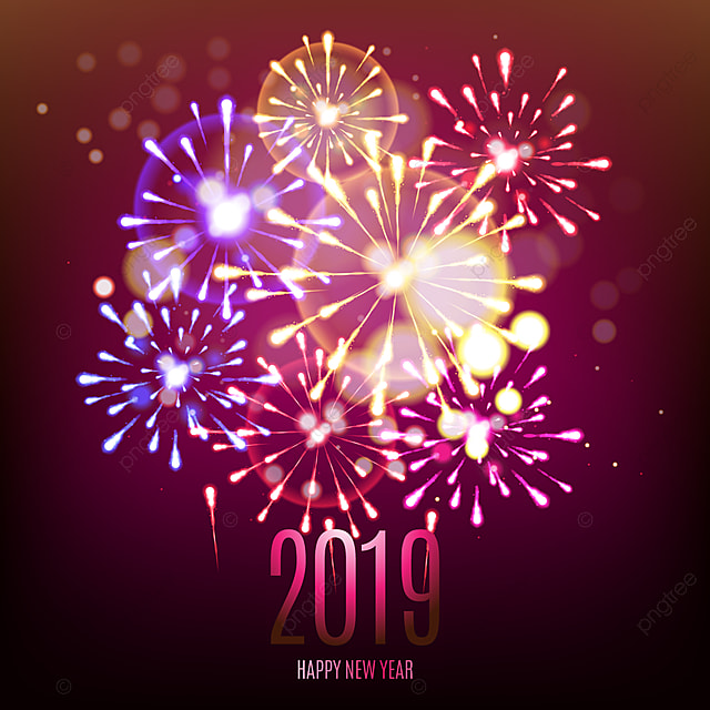 2019 celebration fireworks beautiful background fireworks new year png and vector