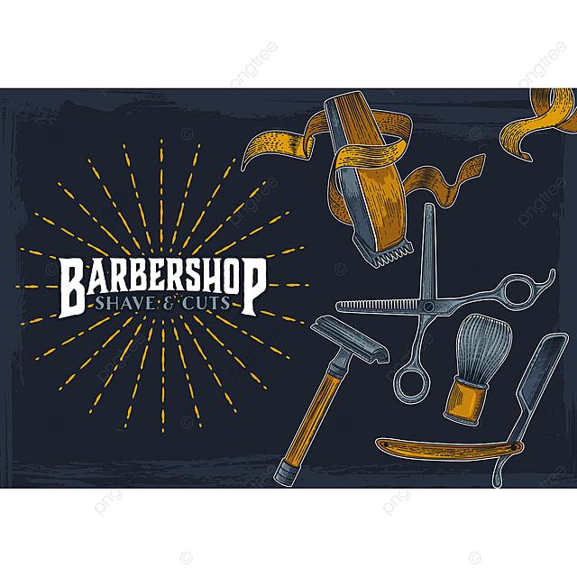 barber shop hipster vintage sign template barbershop barber