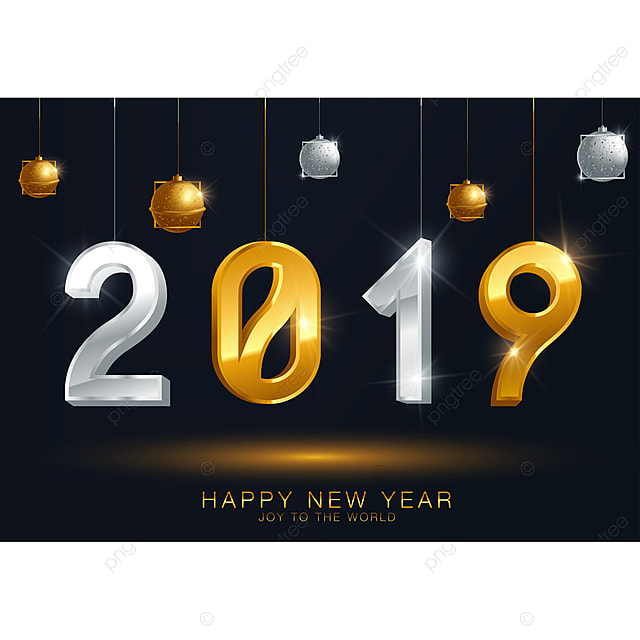 2019 happy new year or christmas background creative greeting card design can be used for