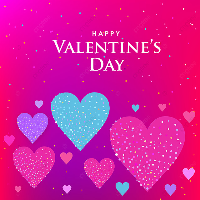 Happy Valentine S Day Greeting Card With Pink Background Pink