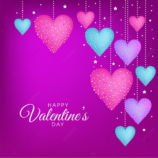 Purple Valentines Day Vector Greeting Card Design Valentine Card