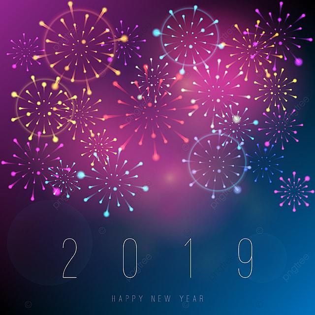 Fuegos Artificiales Ano Nuevo Fondo Realista 2019 Resumen
