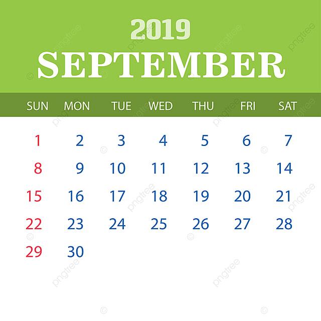 Calendario De Septiembre 2019 Para Imprimir Animado.Plantilla De Calendario Septiembre 2019 2019 2020 Anual