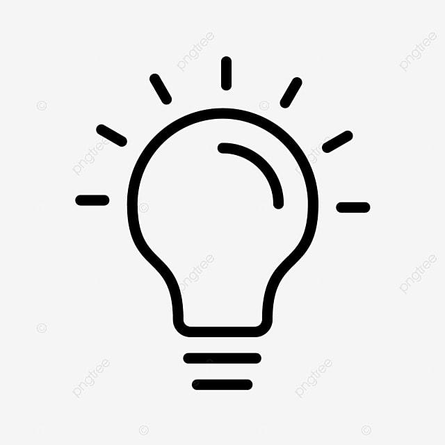 ic u00f4ne de la ligne noire lampoule ampoule creative id u00e9e png