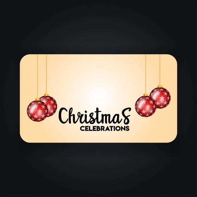 Christmas Banner With Elegant Decoration, Background, Banner