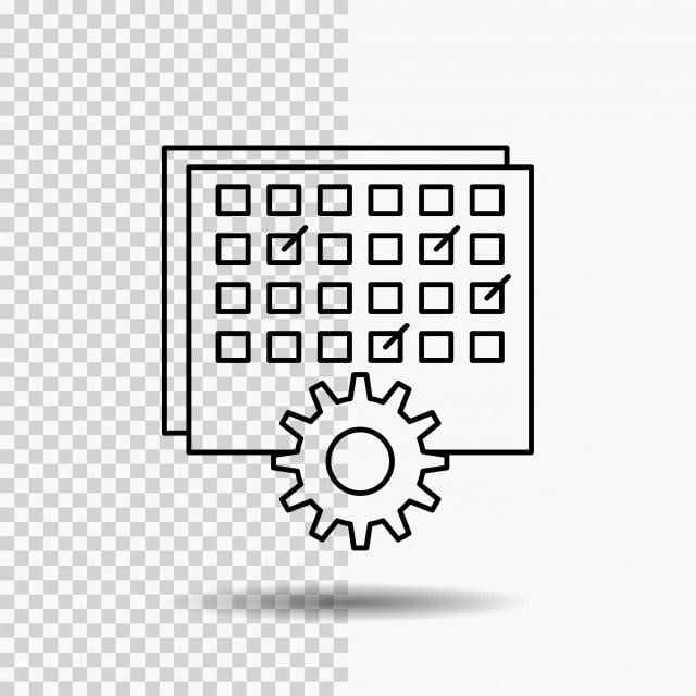 Calendario Timing.Evento Gestion Tratamiento Calendario Timing Line Icono De