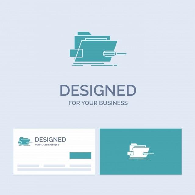 Folder Repair Skrewdriver Tech Technical Business Logo ...