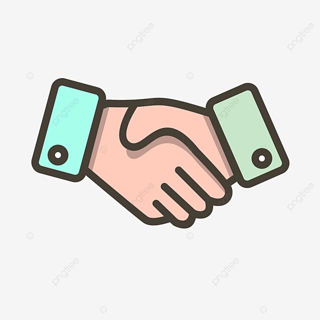 Berjabat Tangan Vektor Ikon Perjanjian Perjanjian Ikon