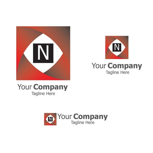 Letter N Logo Business Logo Template With Square Box Design Concept