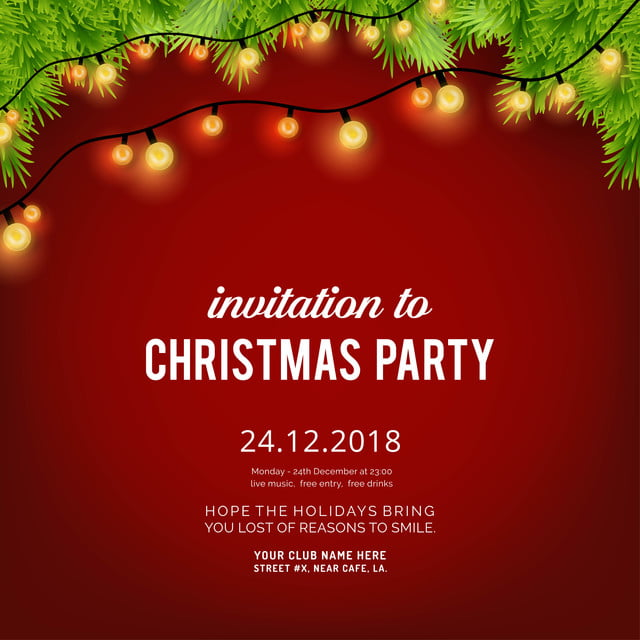 Christmas Invitation Background Png.Merry Christmas Party Invitation Background Background