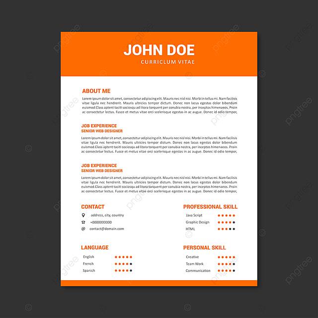 professional cv resume template design for a creative