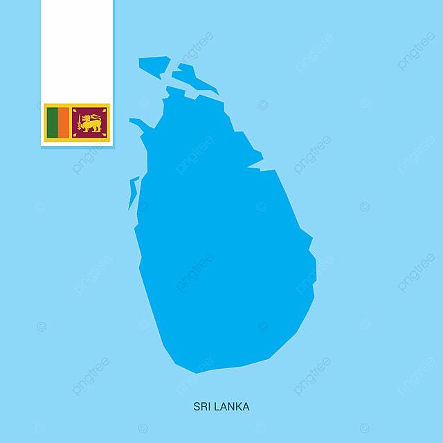 Sri Lanka Carte Ancien Nom.Sri Lanka Carte Avec Drapeau Sur Fond Bleu 4 4e L Asie