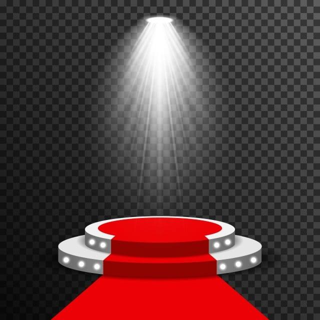 stage podium illuminated scene spotlight party  award