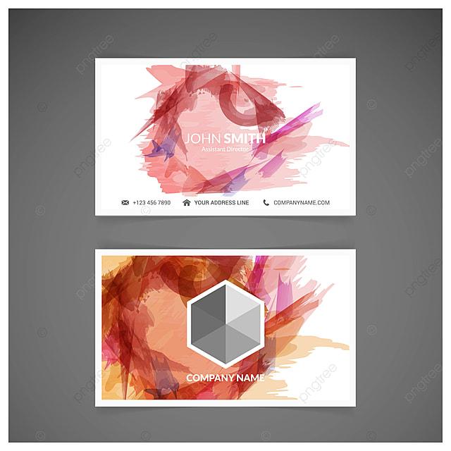 Vector Abstrakte Kreative Visitenkarten Abstract Werbung