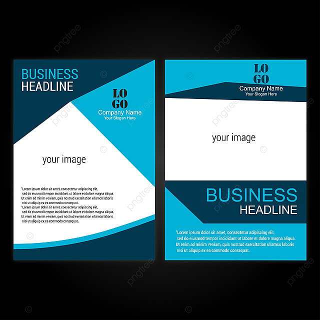 Vector Brochure Flyer Design Layout Template Size A4 Curve Des