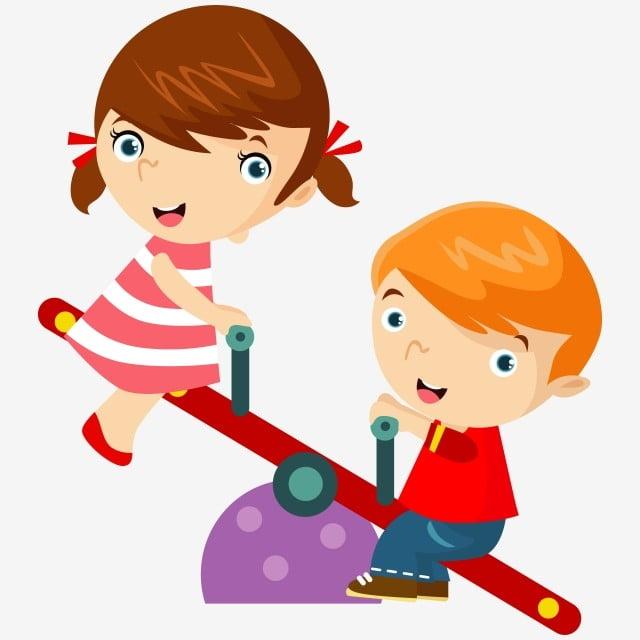 2 Les Enfants Jouer Dans Le Parc Clipart Enfants De L Ecole Enfant Illustration Png Et Vecteur Pour Telechargement Gratuit