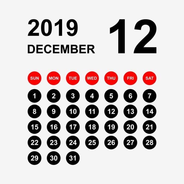 Psd December 2019 Calendar 2019 Calendar, December Calendar, Calendar 2019, Calendar, 2019