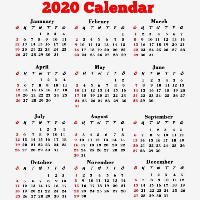 Calendar 2020 Psd 2020 Calendar Png, 2020 Calendar, 2020, Calendar PNG Transparent