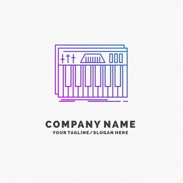 Controller,keyboard,keys,midi,sound Purple Business Logo Tem